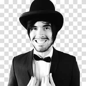 German Garmendia, grayscale of man wearing suit and bowtie PNG clipart