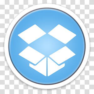 ORB OS X Icon, white Dropbox icon PNG