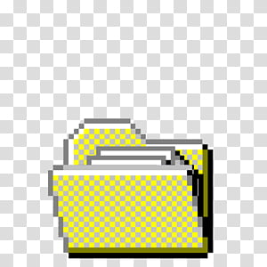 Aesthetic, yellow file folder illustration PNG clipart