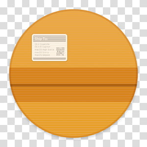 Clay OS 6 A macOS Icon, The Unarchiver, round orange icon PNG clipart