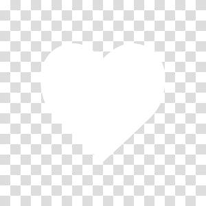 Black n White, white heart illustration PNG