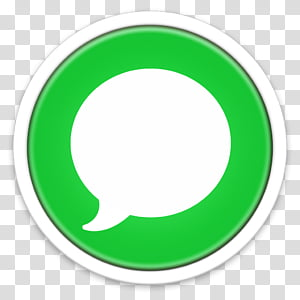 ORB OS X Icon, green and white application icon PNG