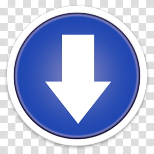 ORB OS X Icon, arrow down PNG clipart