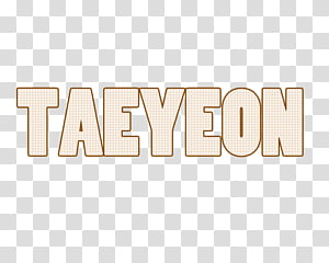 text SNSD, Taeyeon text PNG clipart