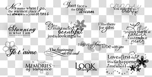 text brushes, text overlays PNG clipart
