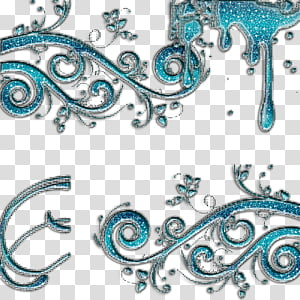 blue foliage wallpaper PNG clipart