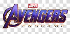 Avengers Endgame 2019 logo, Marvel Avengers Endgame texts PNG clipart