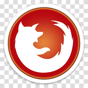 ORB OS X Icon, round white and red Mozilla Firefox icon art PNG clipart