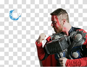 Luba Tv, man wearing Thor costume PNG clipart
