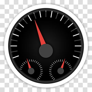 ORB OS X Icon, analog speedometer icon illustration PNG