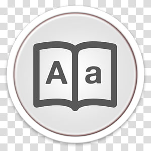 ORB OS X Icon, white and gray Dictionary icon PNG