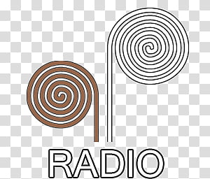 Spiral dock icons, RADIO, radio icon PNG clipart