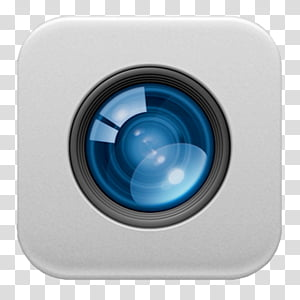 OS X dock icons, FaceTime, camera lens icon PNG