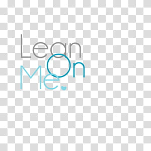 text, Lean On Me text PNG clipart