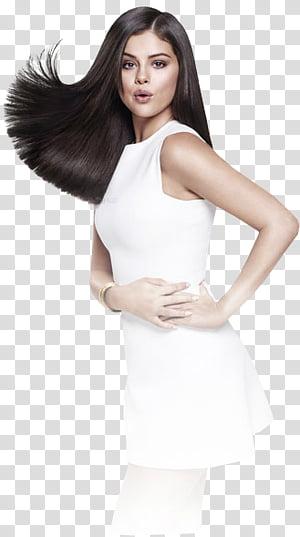 Selena Gomez, woman wearing white tank top PNG