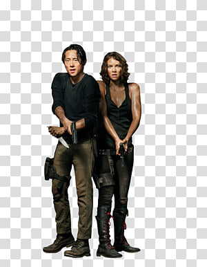 The Walking Dead , The Walking Dead male and female characters PNG