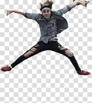 AlexanderWTF , man jumping while wearing blue long-sleeved shirt PNG clipart