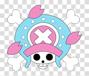 One Piece Jolly Roger Dock and Folder Icons by, New World Chopper Jolly Roger, skull illustration PNG