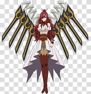 Erza Scarlet Ataraxia Armor, Fairy Tail Erza Scarlet PNG clipart