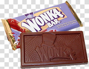 Wonka Bar chocolate pack PNG clipart