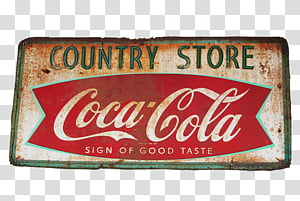 Vintage Signs, Country Store Coca-Cola signage PNG clipart