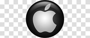 Black OS icon, Apple, Apple logo icon PNG