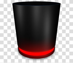 Recycle Bin Black, black portable speaker PNG clipart