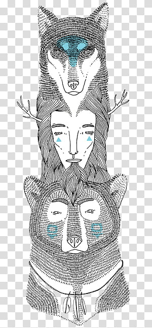 Miscellaneous s, animal face sketch art PNG