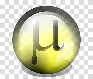 uTorrent Dock Icons 3, utorrent_yellow_1_shdw, uTorrent icon PNG clipart