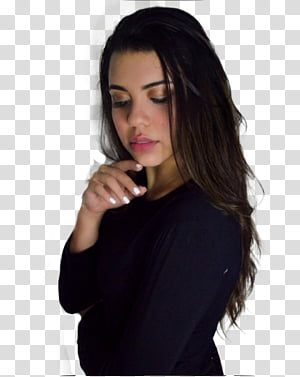Nicolle Principe, woman wearing black long-sleeved top PNG clipart