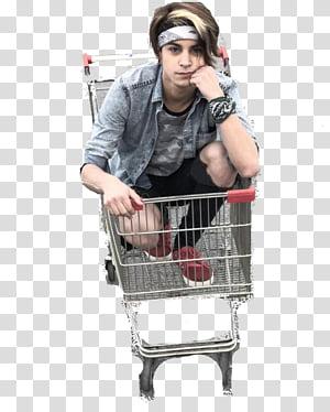 AlexanderWTF , man riding on grey metal push cart PNG clipart