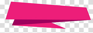 Banners, pink border PNG